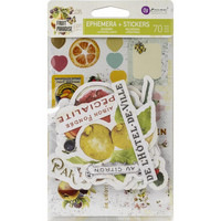 Prima Marketing - Fruit Paradise Ephemera Cardstock & Sticker Sheet, 70 osaa