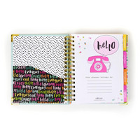 Simple Stories -  Carpe Diem Oh, Happy Day Spiral Planner, Päivätty 17 kk