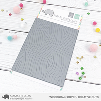 Mama Elephant - Woodgrain Cover, Creative Cuts, Stanssi