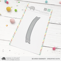 Mama Elephant - 3D Arch Banner, Creative Cuts, Stanssisetti