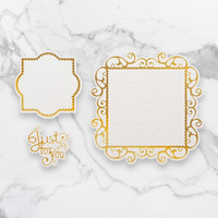 Couture Creations  - Just For You Frames Cut, Foil & Emboss Die