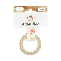 Carta Bella - Fall Market Decorative Tape, 15mmx9m, Fall Floral