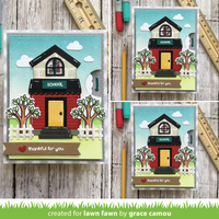 Lawn Fawn - Build a House Christmas Add-On, Stanssisetti