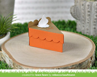 Lawn Fawn - Cake Slice Box Pie Add-On, Stanssisetti