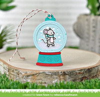 Lawn Fawn - Snow Globe Gift Tag, Stanssisetti