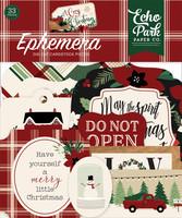 Echo Park - A Cozy Christmas Ephemera, Leikekuvia, 33 kpl