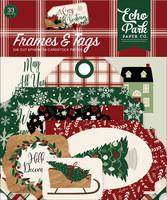 Echo Park - A Cozy Christmas Frames & Tags, Leikekuvia, 33 kpl