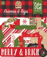 Echo Park - My Favorite Christmas Frames & Tags, Leikekuvia, 33 kpl