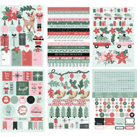 Kaisercraft - Peppermint Kisses, Sticker Pad, Tarrasetti