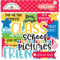 Doodlebug - School Days, Odds & Ends Chit Chat Die-Cuts, 111 osaa