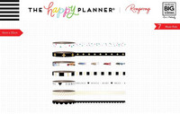 MAMBI - Happy Planner Washi, Rongrong - Black & White, Teippisetti