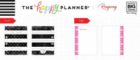 MAMBI - Micro Happy Notes™ Memo Book, Rongrong - Black & White Stripe