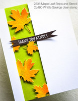 Poppy Stamps - Maple Leaf Side Strips and Stencil, Stanssisetti