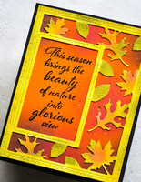 Poppy Stamps - Autumn Leaves Sidekick Frame and Stencil, Stanssisetti