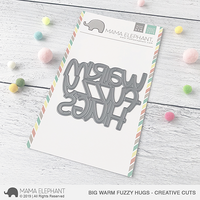 Mama Elephant - Big Warm Fuzzy Hugs, Creative Cuts, Stanssi