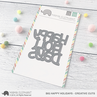 Mama Elephant - Big Happy Holidays, Creative Cuts, Stanssi