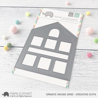 Mama Elephant - Ornate House Grid, Creative Cuts, Stanssi