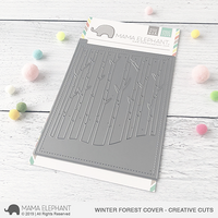 Mama Elephant - Winter Forest Cover, Creative Cuts, Stanssi