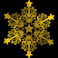 Gemini - Foil Stamp Die Elements, Ornate Snowflake