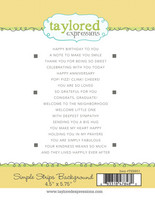 Taylored Expression - Simple Strips Background, Leimasetti