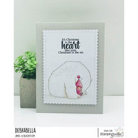 Stamping Bella - Bundle Girl Wrapped In A Polar Bear, Leima