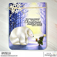 Stamping Bella - Bundle Girl with Polar Bear, Leimasetti