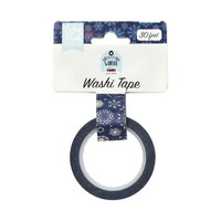 Echo Park - My Favorite Winter Decorative Tape, 15mmx9m, Frosted Snowflakes