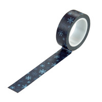 Carta Bella - Snow Much Fun Decorative Tape, 15mmx9m, Icy Snowflakes