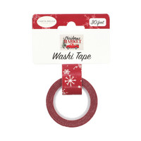 Carta Bella - Christmas Market Decorative Tape, 15mmx9m, Snow Flurries