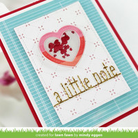 Lawn Fawn - Heart Shaker Gift Tags, Stanssisetti