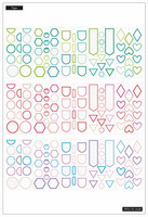 MAMBI - Happy Planner, Colorful Shapes, Tarrasetti, 30arkkia