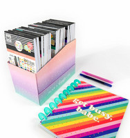 Mambi - Sticker Storage Box, Pastel Rainbow