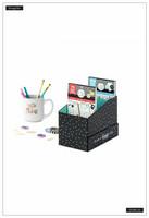 Mambi - Sticker Storage Box, Black and White Polka Dot