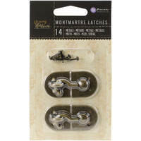 Prima Marketing - Memory Hardware Embellishments, Montmartre Metal Latch, 2kpl