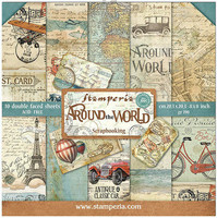 Stamperia - Around the World, Paper Pack 8