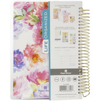 Paper House - 12-Month Mini Planner, Cool Floral Dreams