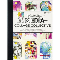 Dina Wakley Media - Collage Collective, paperikko, 60 arkkia