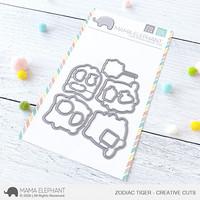 Mama Elephant - Zodiac Tiger, Creative Cuts, Stanssisetti