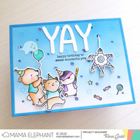 Mama Elephant - Whimsy Alphas, Creative Cuts, Stanssisetti