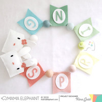 Mama Elephant - Buildabanner Pennants, Creative Cuts, Stanssisetti