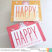Mama Elephant - HAPPY CHIC WISHES, Leimasetti