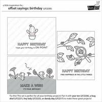 Lawn Fawn - Offset Sayings Birthday, Leimasetti