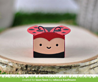 Lawn Fawn - Tiny Gift Box Ladybug Add-on, Stanssisetti