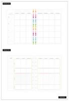 MAMBI - CLASSIC Happy Planner, Päiväämätön 12kk, Fitness