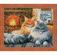 ArtMosfa - Cats Cosiness (K), Timanttimaalaus, 50x40cm