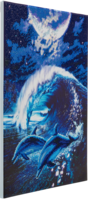 Craft Buddy - Moonlight Tryst Dolphins (K)(P), Timanttimaalaus, 40x50cm