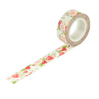 Carta Bella - Farmhouse Market Decorative Tape, 15mmx9m, Lovely Bouquet