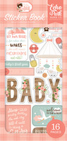 Echo Park - Baby Girl, Sticker Book, Tarrasetti