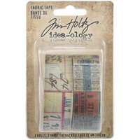Tim Holtz - Idea-Ology Fabric Tape, 2 rullaa