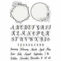 Crafter`s Companion - Sara Signature Collection Garden of Love, Leimasetti, Monogram Frames